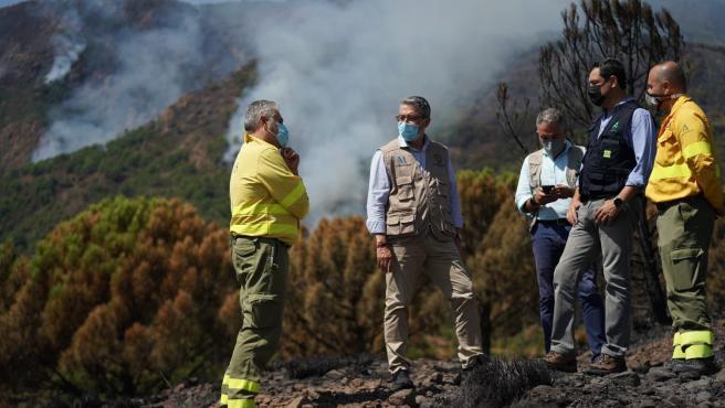 Incendios.- AMPL.- Salado espera que el Gobierno declare zona catastrófica por el incendio en Sierra Bermeja