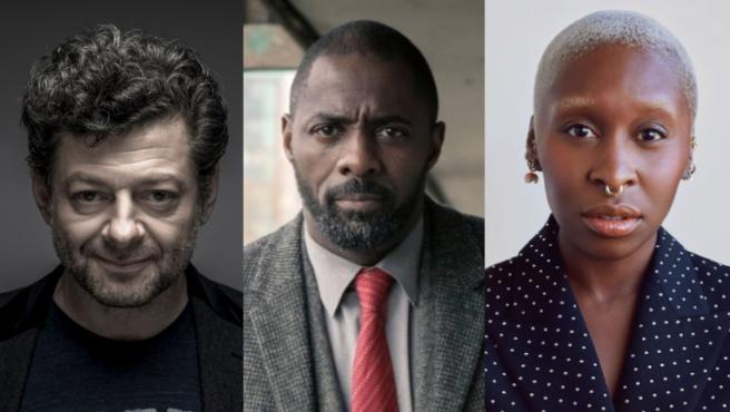 Andy Serkis, Idris Elba y Cynthia Erivo