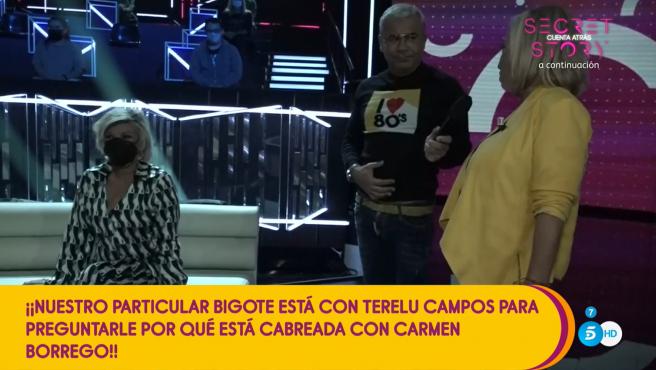Terelu Campos y Carmen Borrego en el plató de 'Secret Story'.