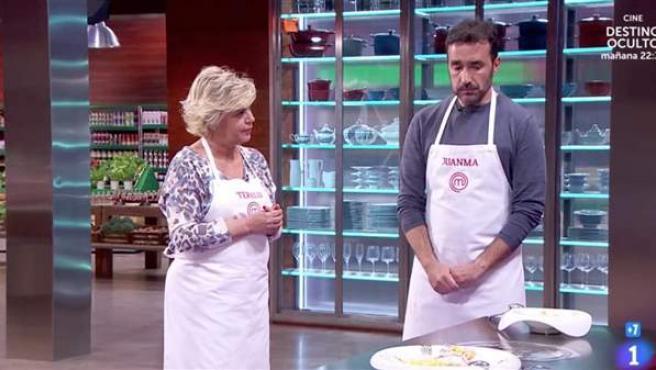 Terelu y Juanma Castaño.