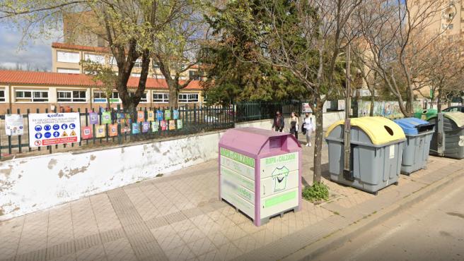 Vista del colegio Alba Plata, en Cáceres.