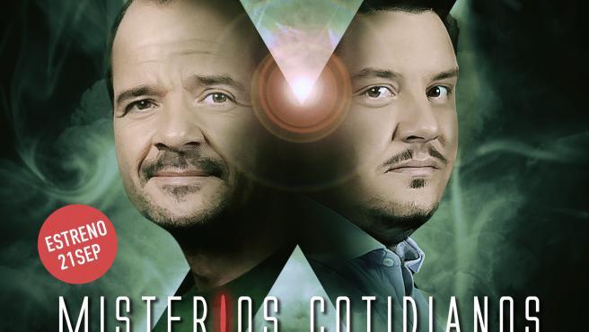 El cartel de 'Misterios Cotidianos', con Ángel Martín y José Lozano.