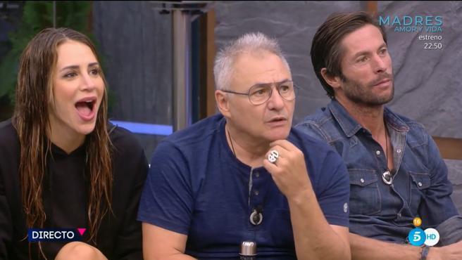 Cristina Porta, Chimo Bayo y Canales Rivera, en 'Secret Story'