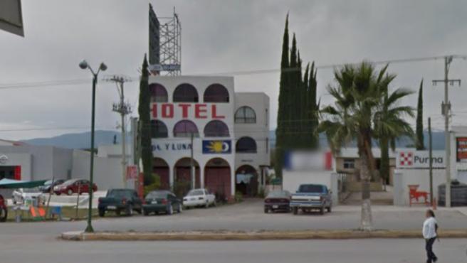 Imagen de archivo del hotel donde fueron secuestrados 22 migrantes extranjeros y 16 ciudadanos mexicanos, en el municipio de Matehuala, en el estado de San Luis Potosí (México).