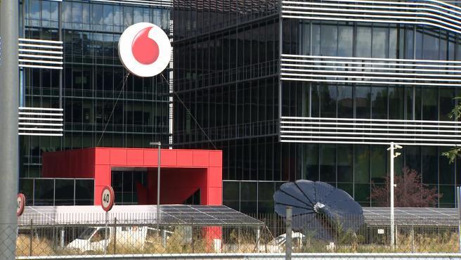 Sede de Vodafone tras el anuncio de ERE en España para un máximo de 515 personas