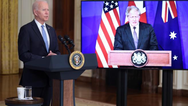 Joe Biden y Boris Johnson.
