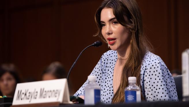 McKayla Maroney, durante su testimonio en el caso de Larry Nassar