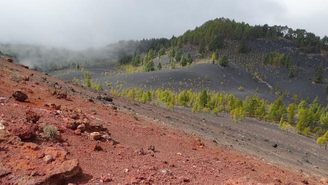 Imagen de la zona del volcán de Cumbre Vieja.