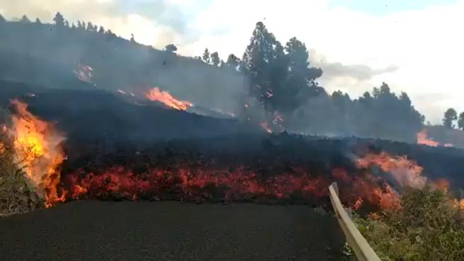 Erupción volcánica desatada en La Palma.