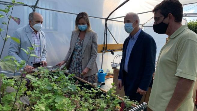 Fabiola García visita la Escola de Formación Agraria Fonteboa, en Coristanco, que forma a jóvenes en el sector agrario