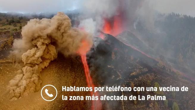 Hablamos con una vecina de la zona más afectada de La Palma