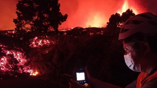 Coladas de lava en El Paso (La Palma)