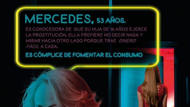 Cartel de la campaña del Ayuntamiento de Burgos contra la prostitución y trata sexual.