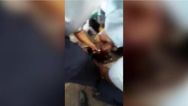 El angustioso rescate a través de una alcantarilla de un adolescente que fue arrastrado mientras se bañaba en un arroyo