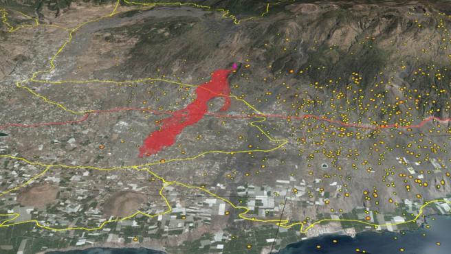 Erupción en la isla de La Palma.