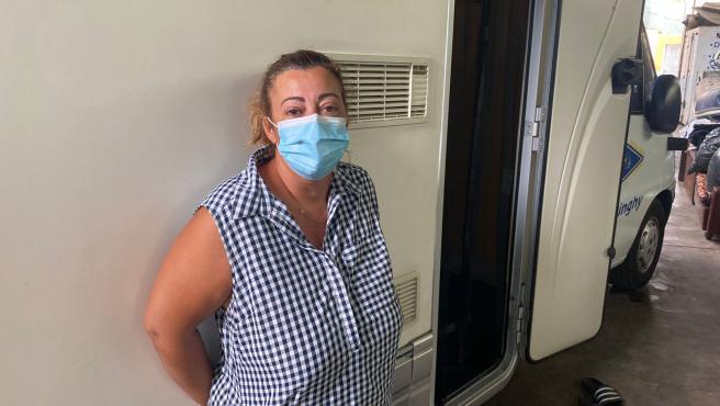 Jessica, de 42 años, es una de las vecinas desalojadas de Todeque por el volcán de La Palma.