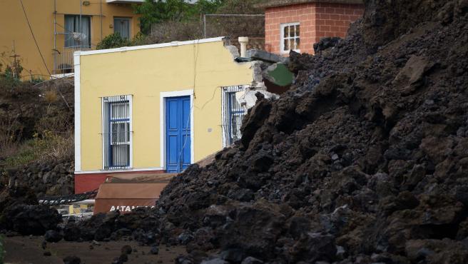 La lava reduce a escombros Todoque