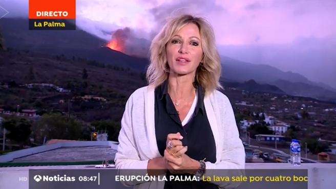 Conexión en directo de Susanna Griso con el telediario matutino de Antena 3.