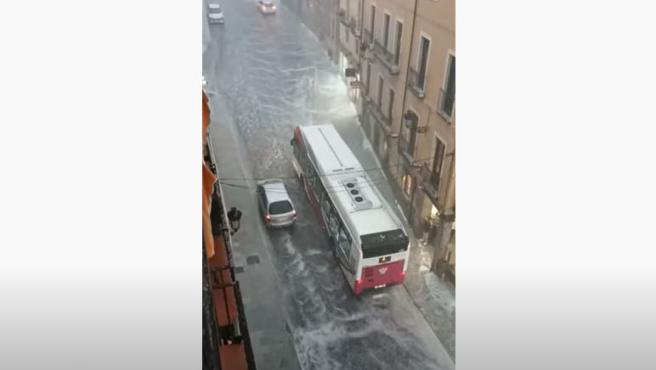 Lluvia intensa con granizo en Toledo, la tarde del 22 de septiembre de 2021.