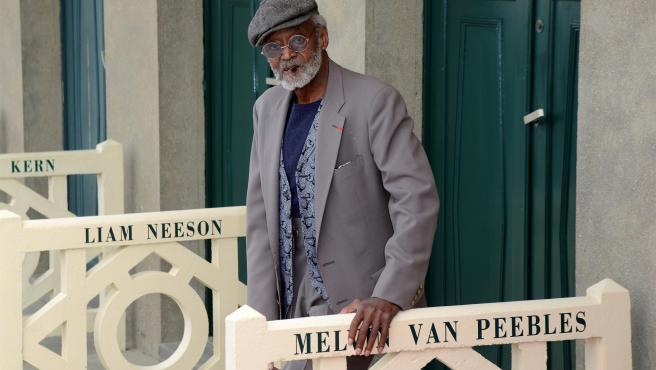 El actor estadounidense Melvin Van Peebles, en Deauville, Francia, en 2012.