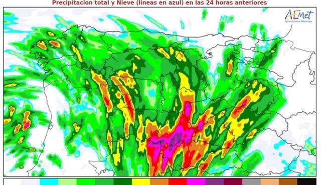 Ávila, Segovia y Soria, en riesgo este viernes por lluvias y tormentas