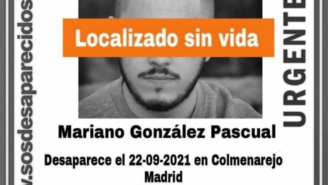 Localizado sin vida el joven de Zarzalejo desaparecido
