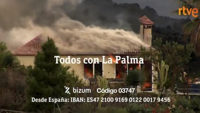 RTVE lanza la campaña solidaria 'Todos con La Palma' para apoyar a los damnificados por el volcán.