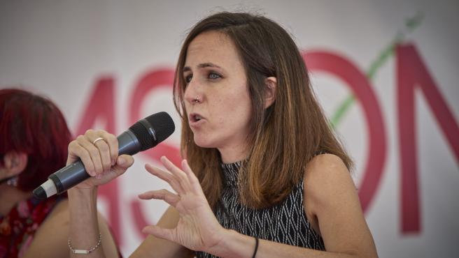 La ministra de Derechos Sociales, Ione Belarra, este sábado.