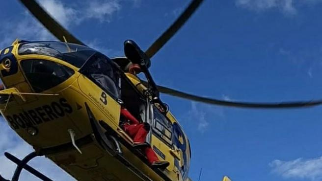 Rescatada una senderista que resultó herida tras sufrir una caída en la zona de Los Argaos, en Cangas de Onís