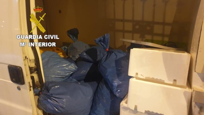 El Servicio Marítimo de la Guardia Civil de A Coruña se incauta de más de 225 kilos de cigala fresca