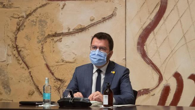 El president de la Generalitat, Pere Aragonès, en una imagen de archivo.