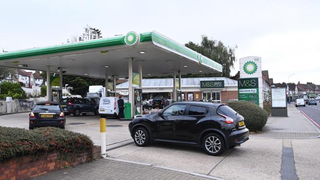 Gasolinera de BP en Londres.