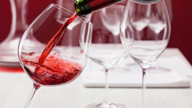 Copas de vino recién limpias.