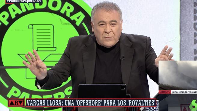 Ferreras relatando los 'Pandora Papers'