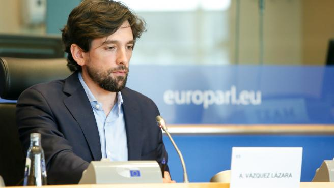 El eurodiputado de Cs, Adrián Vázquez.