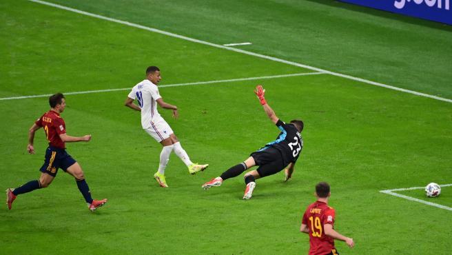Gol de Mbappé contra España