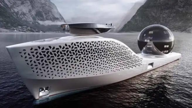 La embarcación dispone de un espacio esférico con 22 laboratorios.