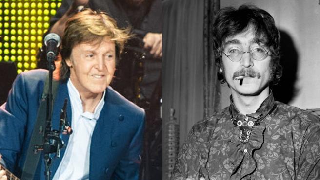 Paul McCartney y John Lennon, en imágenes de archivo.
