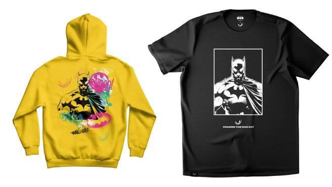 Dos de las nuevas prendas inspiradas en Batman lanzadas por El Rubius.