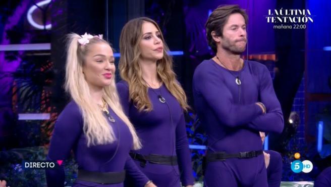 Emmy Russ, Cristina Porta y Antonio Canales, en 'Secret Story'.