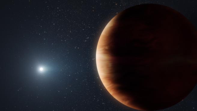 Sistema planetario formado por una enana blanca y un planeta gaseoso W. M. KECK OBSERVATORY/ADAM MAKA 13/10/2021