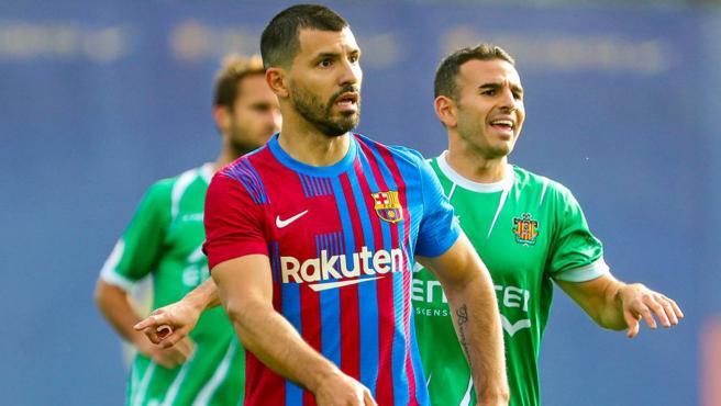 Kun Agüero, con el Barça