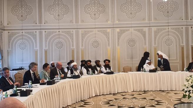 Reunión de los talibán con delegaciones de Estados Unidos.