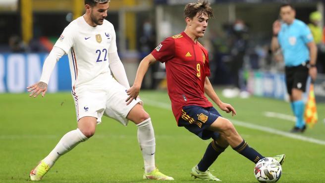 Theo Hernández, en el partido ante España.