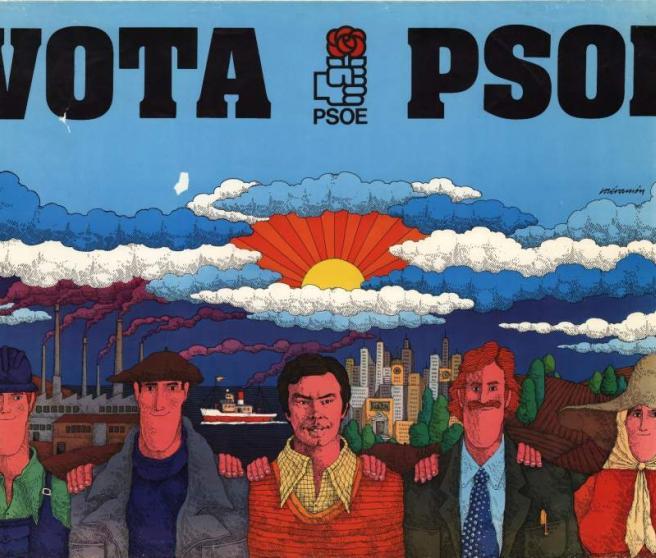 <p>Cartel del PSOE para las elecciones de 1977.</p>