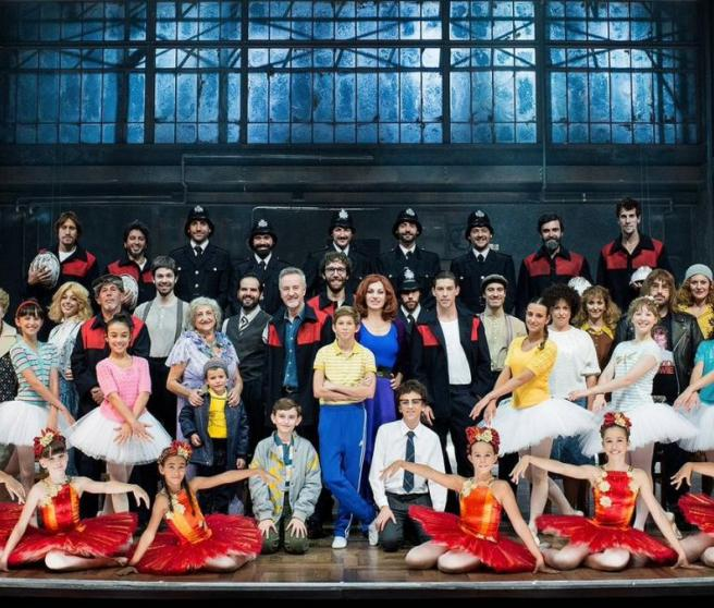 Part of the cast of the musical 'Billy Elliot'.