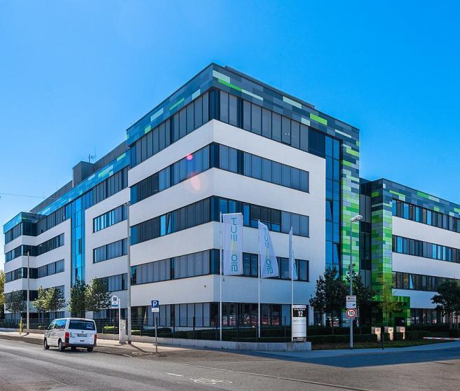 Sede de Biontech en Mainz, empresa que desarrolla una vacuna contra la Covid junto a Pfizer.