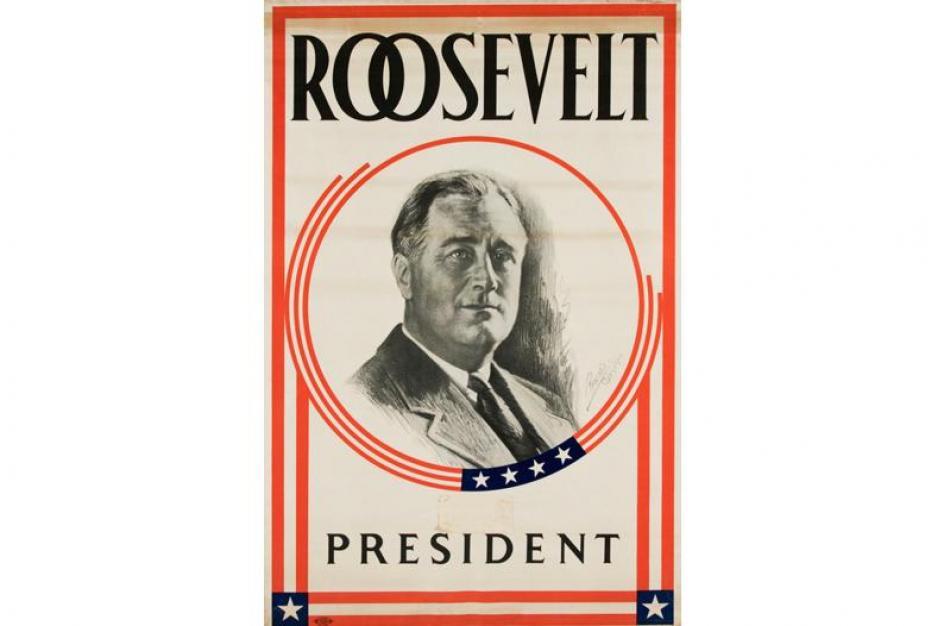 Franklin D. Roosevelt fue un político demócrata que fue el trigésimo segundo presidente de los Estados Unidos desde 1933 hasta su muerte en 1945.