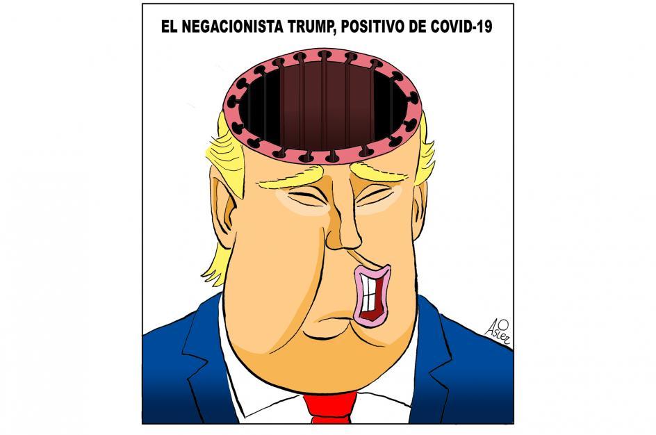 Trump, positivo de Covid-19, por Asier