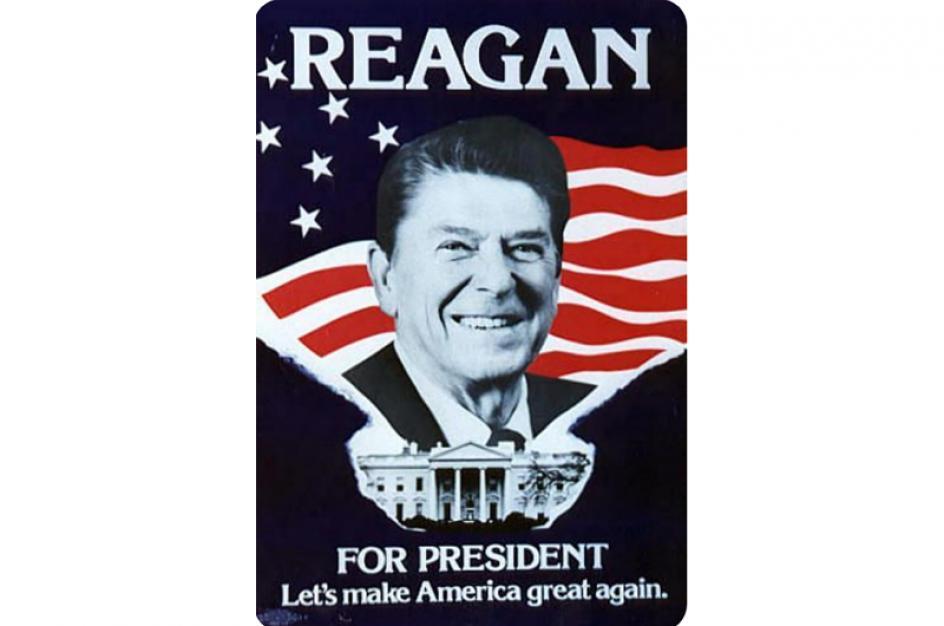 Ronald Wilson Reagan fue un político estadounidense que sirvió como 40.° presidente de los Estados Unidos desde 1981 a 1989.